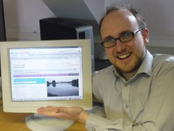 Lichfield District Council's webmaster Stuart Harrison