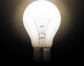 A traditional light bulb. Pic: Chuck Coker