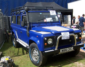 The Land Rover stolen in Burntwood