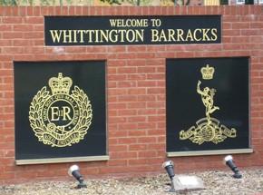 Whittington Barracks sign