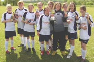 The League Cup-winning Lichfield Diamonds U12 side