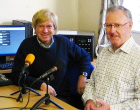 John May shows Michael Fabricant MP the Lichfield Talking News setup