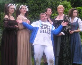 Cast members from Shakespeare in the Park's Taming of the Shrew