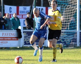 Chasetown's Gary Hay gets away from his marker. Pic: Dave Birt