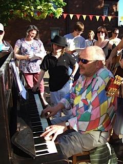 Bruford Low performin at Buskathon