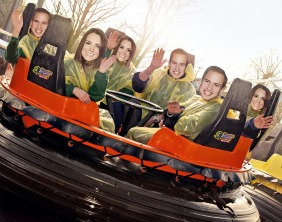 A mock-up of Prince William and Kate Middleton riding the rapids