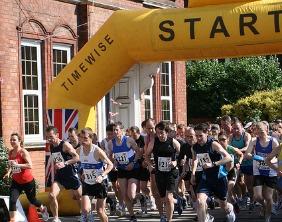 The start of the Lichfield Half Marathon