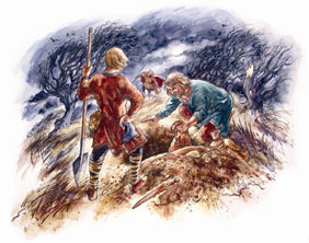 Burying Hoard by David Hobbs