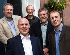 Adrian Mathias and Mark Williams with their fellow Brownhill Hayward Brown directors