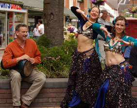 Belly dancers prepare for the Lichfield Festival Fringe