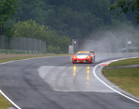 The CRS Racing car on track