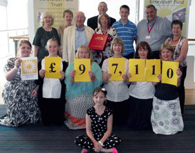 Staff and volunteers from the Daisychain Benevolent Fund and Midlands Air Ambulance