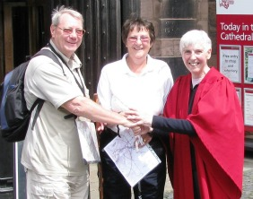 Eric and Margaret Harding at Chester Cathedral