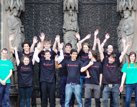 Volunteers at Lichfield Cathedral