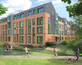 An artist's impression of the new Friary Outer development