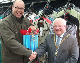 Simon Davies with Cllr Brian Bacon
