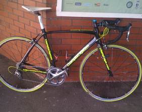 The bike stolen during the Lichfield City Centre Races