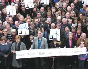 Residents campaigning against the Haunton turbine proposals