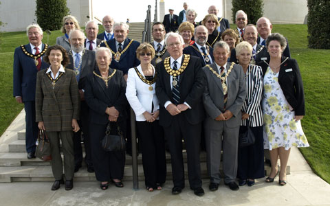 The civic party at the National Memorial Arboretum
