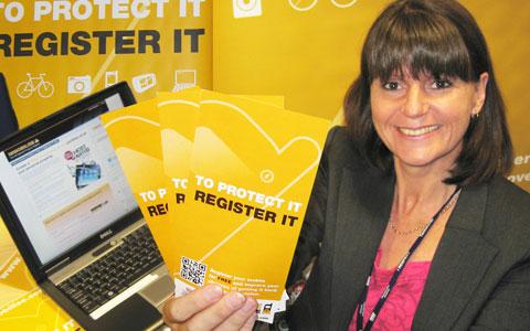 Det Sgt Rachel Joyce promoting the immobilise register