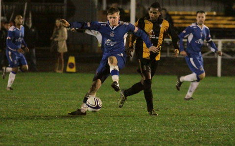 Chris Peel on the ball for Chasetown. Pic: Dave Birt