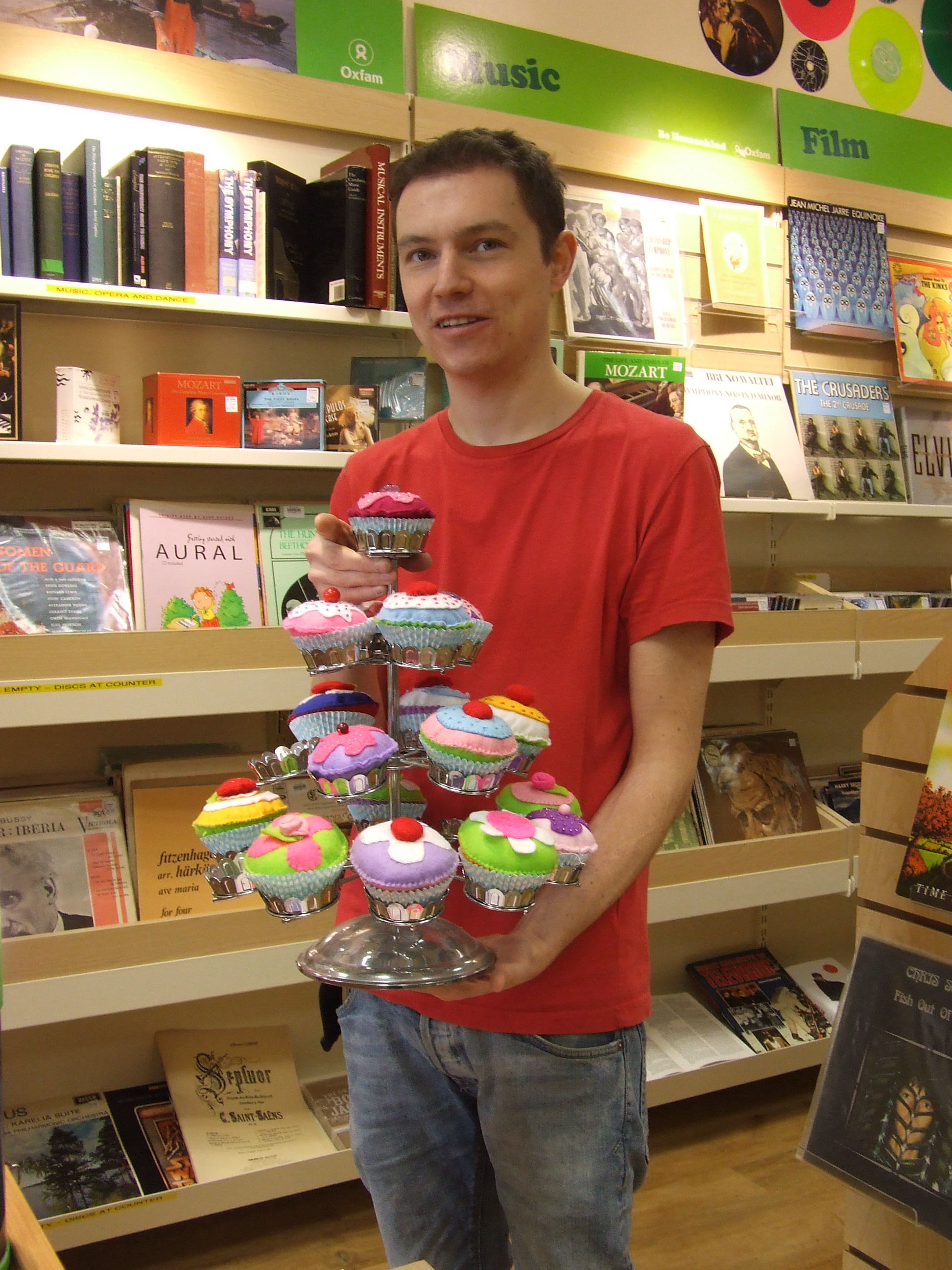 Chris Hancox with some of the cake creations