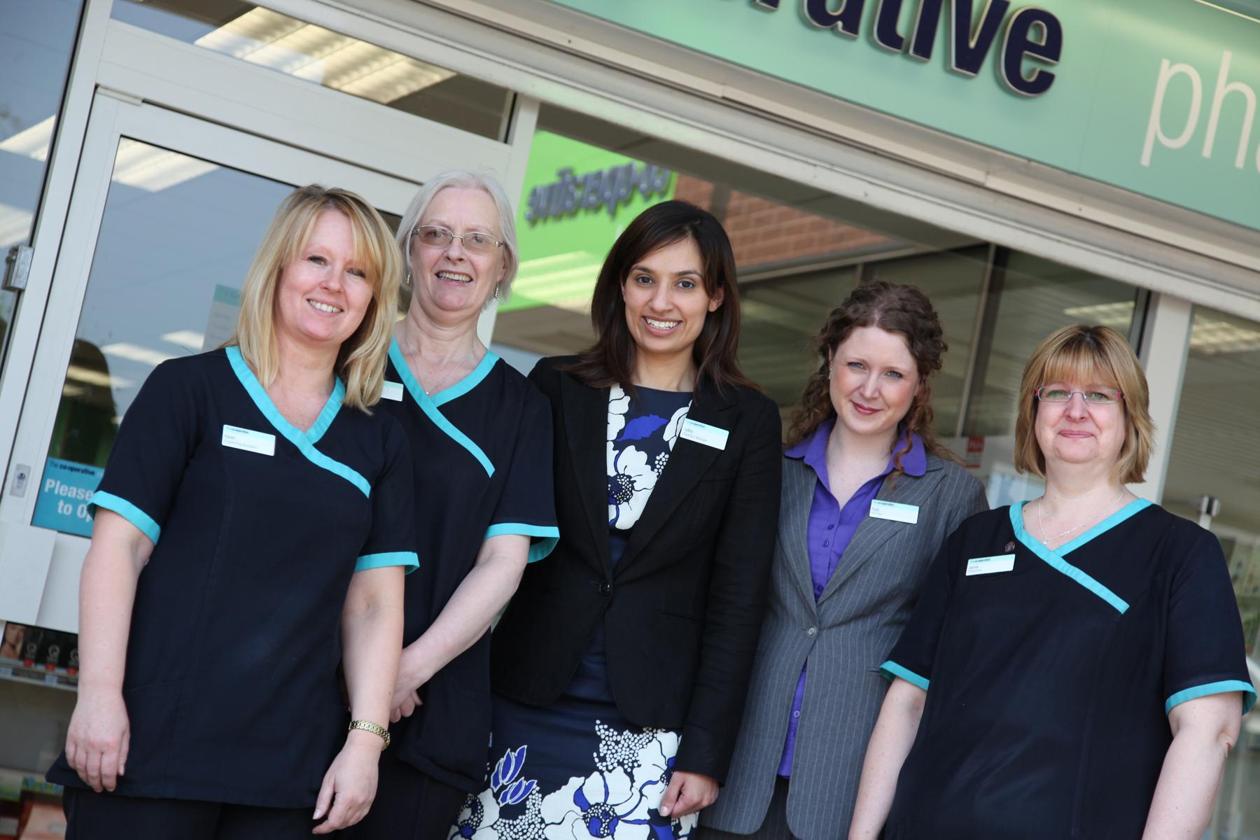 Sukhy Somal with the team at the Boley Park pharmacy