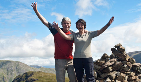 Paul Byrne completes completes the 214th and final Wainwright Fell with his wife Sian