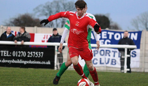 Danny Quinn on the ball for Chasetown. Pic: Dave Birt