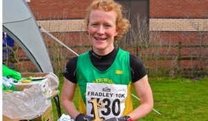 Clare McCittrick who was the first woman home in 2011 Fradley 10K race