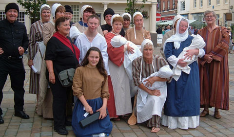 The cast of the 2009 Lichfield Mysteries production of The Slaughter of the Innocents