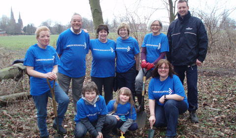 Some of the volunteers who will be helping to plant the bluebells