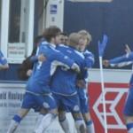 Team mates celebrate with Dean 1