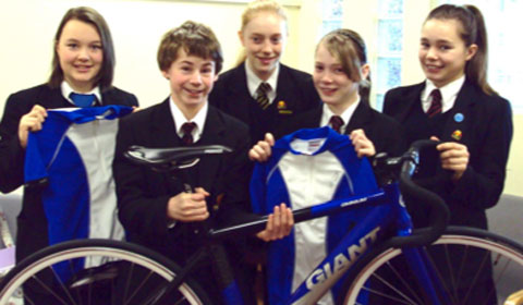 Nether Stowe School's young cycling stars