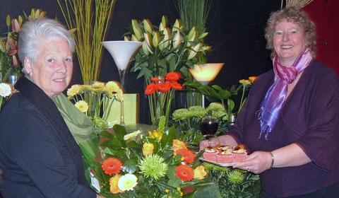 Secret Garden owner Sandra Shaw with chair of Lichfield Mysteries Ros Hallifax