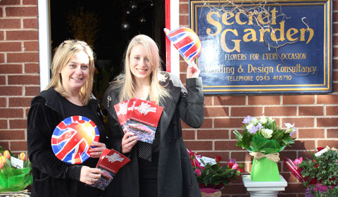 Sandra Shaw from Secret Garden with Lichfield District Council's Rhiannon Purkis