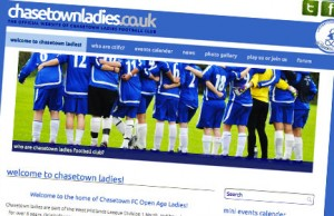 The new chasetownladies.co.uk website