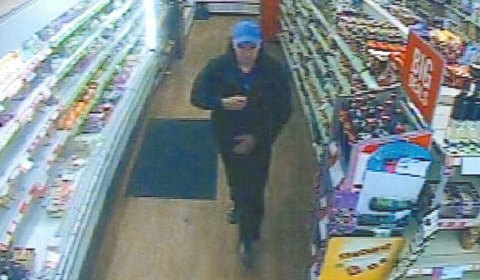 A CCTV image of the Little Aston shoplifting suspect