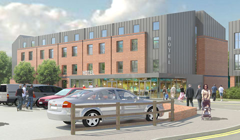An artist's impression of the new Friary Outer hotel