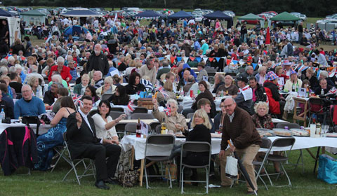 The Lichfield Proms in Beacon Park audience