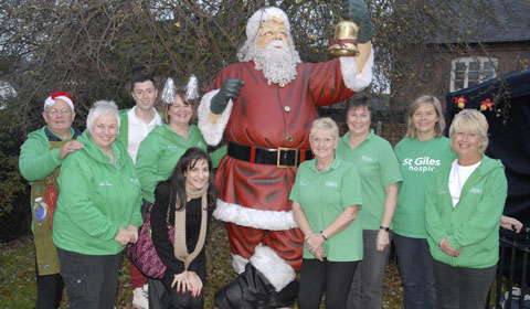 St Giles Hospice staff and volunteers gearing up for the charity's Christmas Fayre