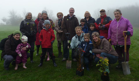 The tree planting team at Stychbrook Park