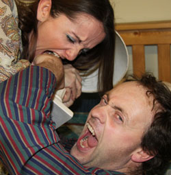 Stuart Goodwin and Amanda Robinson who play Trevor and Susannah in the Lichfield Players' production of Bedroom Farce