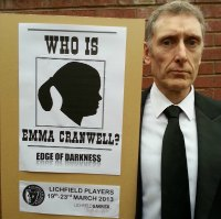 Ian Davies with his placard