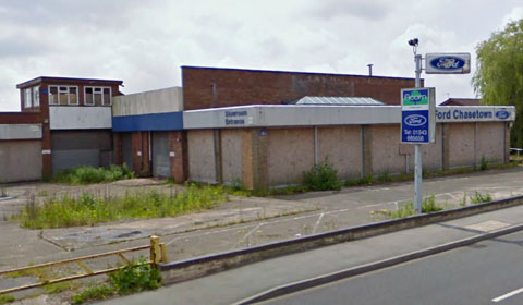 The disused car dealership in Burntwood