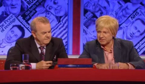 Michael Fabricant MP with Ian Hislop on Have I Got News For You