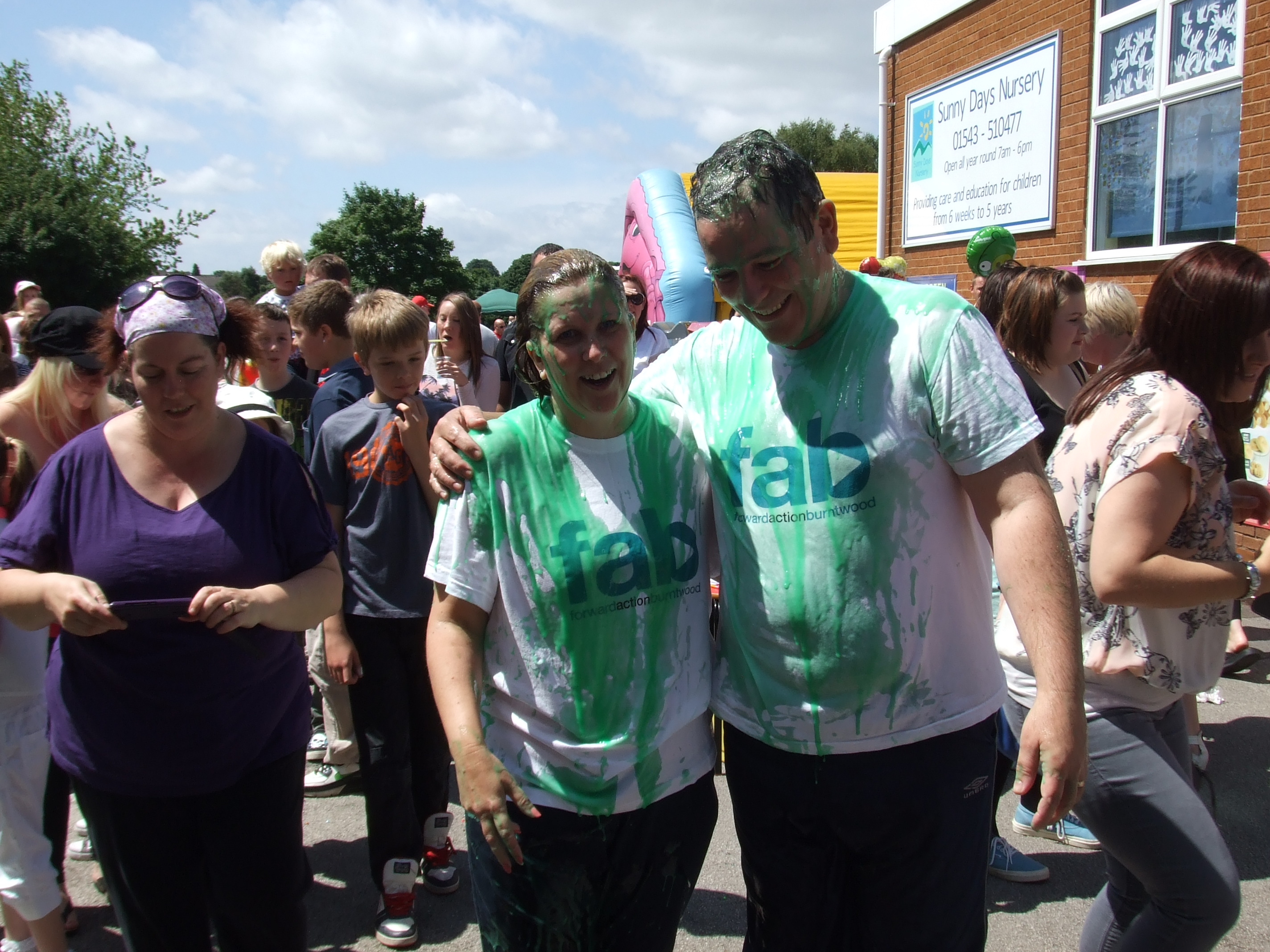 Sharon and Michael after being gunged