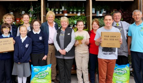 Michael Fabricant with representatives from Waitrose, Scotch Orchard School and Saxon Hill School