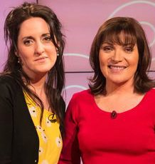 Anouska Knight with Lorraine Kelly
