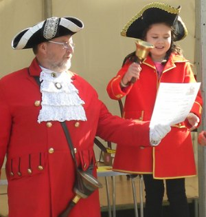 Mini town crier competition winner Charlene Collins